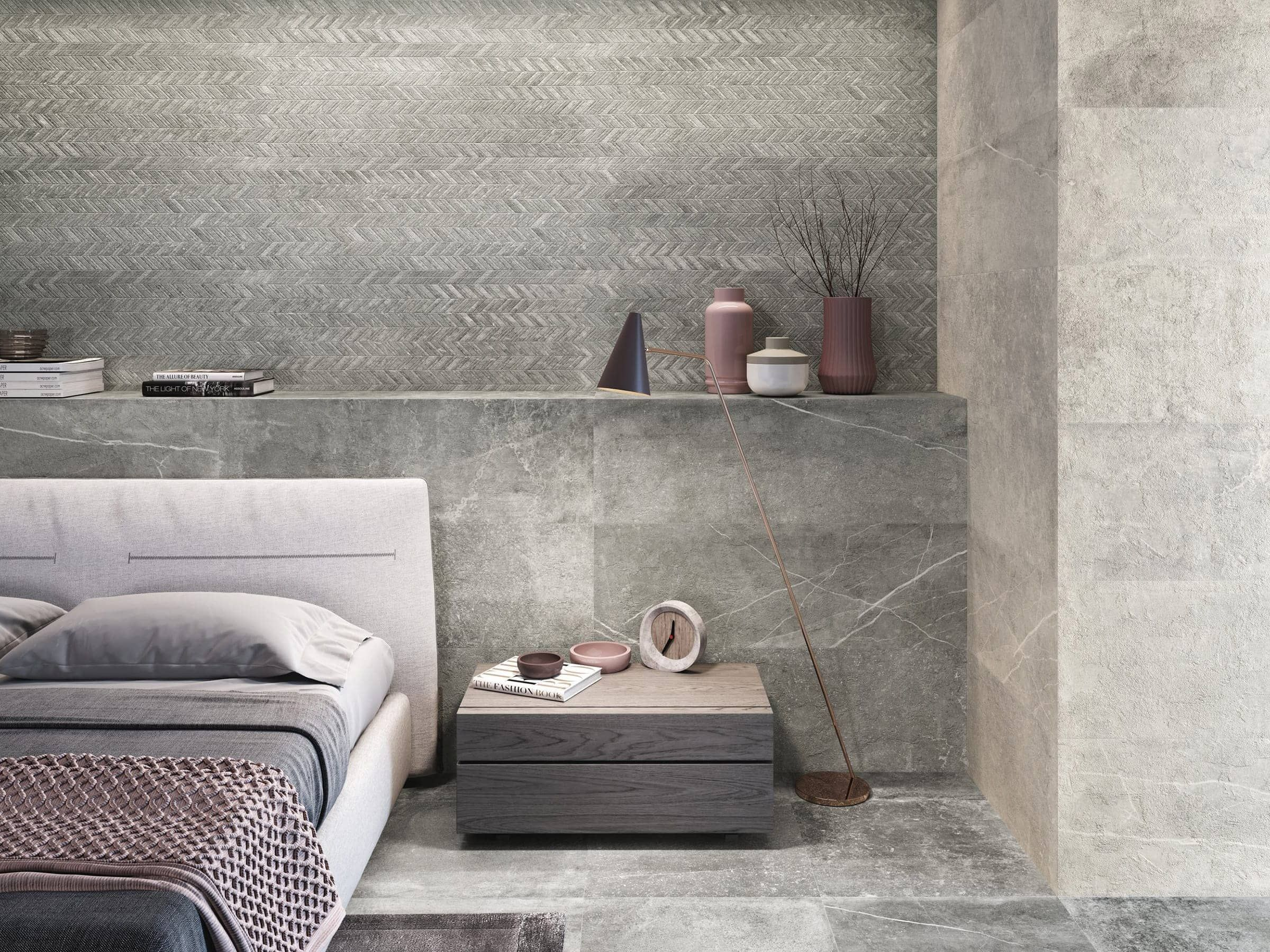 Creating feature walls with Stone Effect decor tiles