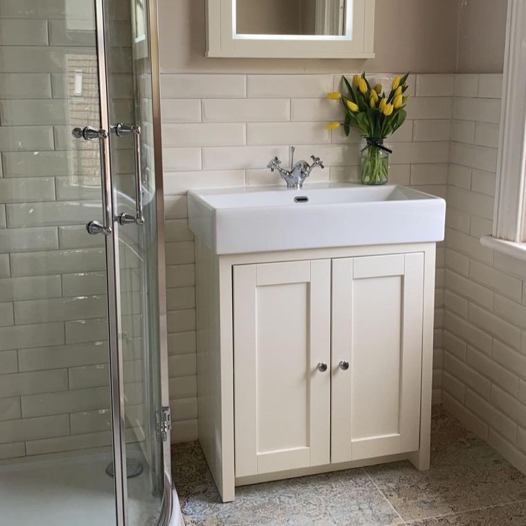 Using small format tiles in a bathroom